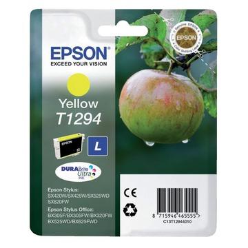 Epson T1294 Yellow | C13T12944012 оригинальный струйный картридж - желтый, 545 стр