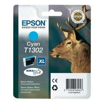 Epson T1302 Cyan | C13T13024010 оригинальный струйный картридж - голубой, 765 стр