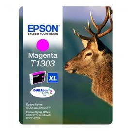 C13T13034010 T1303 Magenta оригинальный струйный картридж Epson пурпурный, ресурс - 600 страниц