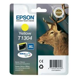 C13T13044010 T1304 Yellow оригинальный струйный картридж Epson желтый, ресурс - 1005 страниц