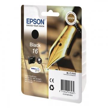 Epson 16 Black | C13T16214010 оригинальный струйный картридж - черный, 175 стр