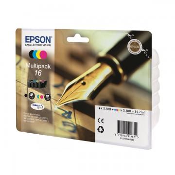 Epson 16 Multipack | C13T16264010 оригинальный струйный картридж - набор цветной + черный, 165 стр