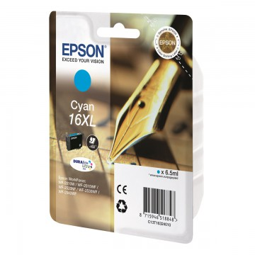 Epson 16XL Cyan | C13T16324010 оригинальный струйный картридж - голубой, 450 стр