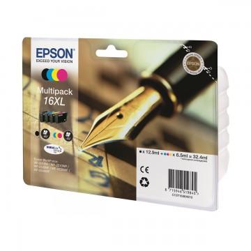 Epson 16XL Multipack | C13T16364010 оригинальный струйный картридж - набор цветной + черный, 450 стр