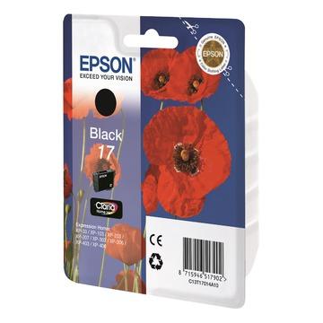 Epson 17 Black | C13T17014A10 оригинальный струйный картридж - черный, 130 стр