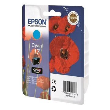 Epson 17 Cyan | C13T17024A10 оригинальный струйный картридж - голубой, 150 стр
