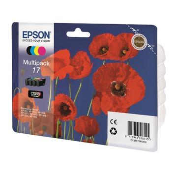 Epson 17 Multipack | C13T17064A10 оригинальный струйный картридж - набор цветной + черный, 150 стр