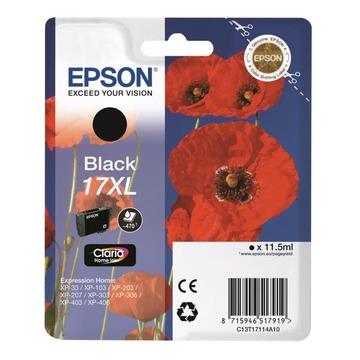 Epson 17XL Black | C13T17114A10 оригинальный струйный картридж - черный, 470 стр