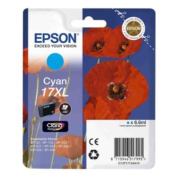 Epson 17XL Cyan   C13T17124A10 оригинальный струйный картридж - голубой, 450 стр