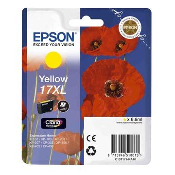 Epson 17XL Yellow | C13T17144A10 оригинальный струйный картридж - желтый, 450 стр