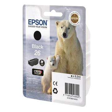 Epson 26 Black | C13T26014012 оригинальный струйный картридж - черный, 220 стр