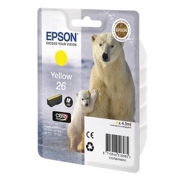 Epson 26 Yellow | C13T26144012 оригинальный струйный картридж - желтый, 300 стр