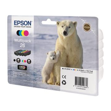 Epson 26 Multipack | C13T26164010 оригинальный струйный картридж - набор цветной + черный, 300 стр
