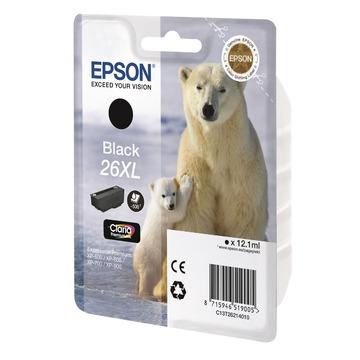 Epson 26XL Black | C13T26214012 оригинальный струйный картридж - черный, 500 стр