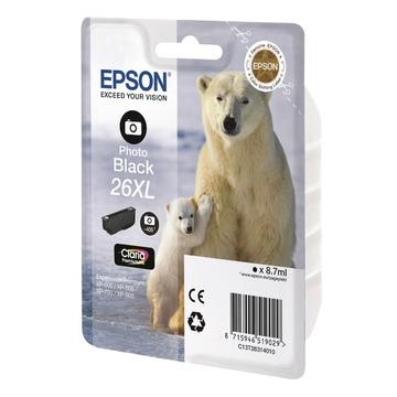 Epson 26XL Photo black | C13T26314012 оригинальный струйный картридж - фото-черный, 400 стр