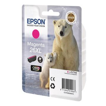 Epson 26XL Magenta | C13T26334010 оригинальный струйный картридж - пурпурный, 700 стр