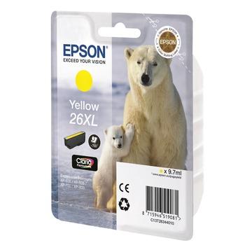 Epson 26XL Yellow   C13T26344010 оригинальный струйный картридж - желтый, 700 стр