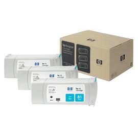81 Cyan 3 Pack | C5067A оригинальный чернильный комплект HP, 680 мл, голубой