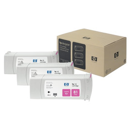 81 Magenta 3 Pack | C5068A оригинальный чернильный комплект HP, 680 мл, пурпурный