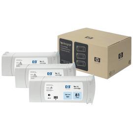 81 Light cyan 3 Pack | C5070A оригинальный чернильный комплект HP, 680 мл, светло-голубой