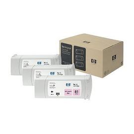 81 Light magenta 3 Pack | C5071A оригинальный чернильный комплект HP, 680 мл, светло-пурпурный