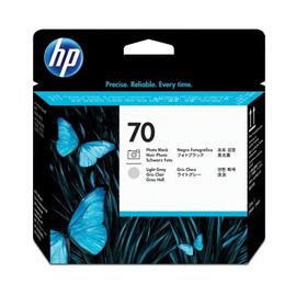 HP C9407A оригинальная печатающая головка HP 70 черный-фото + светло-серый, ресурс - не определен