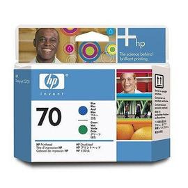 HP C9408A оригинальная печатающая головка HP 70 синий + зеленый, ресурс - не определен