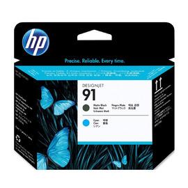 HP C9460A оригинальная печатающая головка HP 91 голубой + черный-матовый, ресурс - не определен