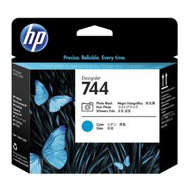 744 C + PB Print Head | F9J86A оригинальный печатающая головка HP, голубой + фото-черный