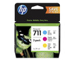 711 Color Multipack | P2V32A (HP) струйный картридж - 3 x 28 мл, набор цветной