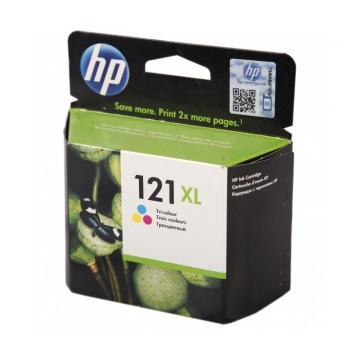 CC644HE HP 121XL Color оригинальный струйный картридж HP цветной, ресурс - 440 страниц