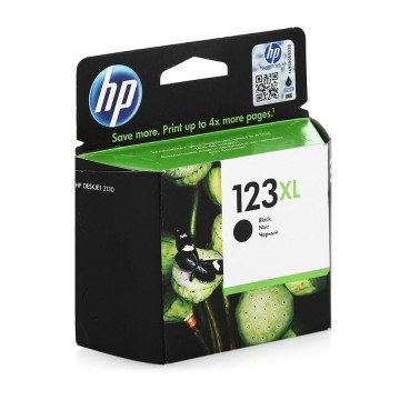 HP 123 XL Black | F6V19AE оригинальный струйный картридж - черный, 480 стр