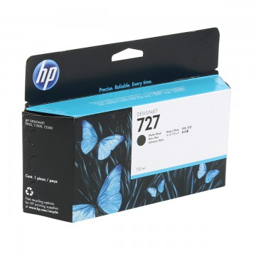HP 727 Matte black | B3P22A оригинальный струйный картридж - черный-матовый, 130 мл