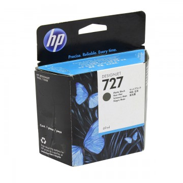 HP 727 Matte black | C1Q12A оригинальный струйный картридж - черный-матовый, 300 мл