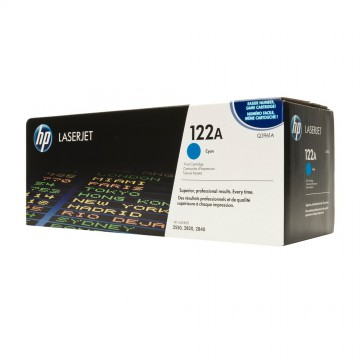 Q3961A HP 122A оригинальный лазерный картридж HP голубой, ресурс - 4000 страниц