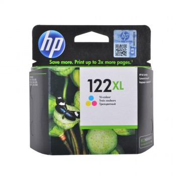 CH564HE HP 122XL Color оригинальный струйный картридж HP цветной, ресурс - 330 страниц