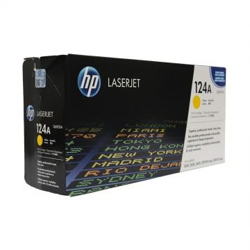 Q6002A HP 124A оригинальный лазерный картридж HP жёлтый, ресурс - 2000 страниц