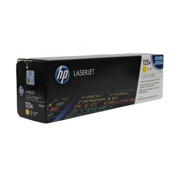CB542A HP 125A оригинальный лазерный картридж HP жёлтый, ресурс - 1400 страниц