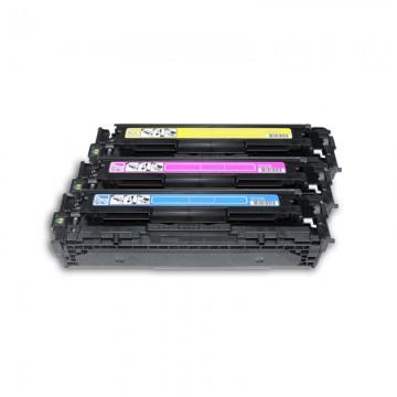 CF373AM HP 125A набор лазерных картриджей HP, ресурс - 3 * 1400 страниц