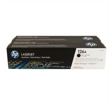 CE310AD HP 126AD оригинальный лазерный картридж HP чёрный, ресурс - 2*1200 страниц