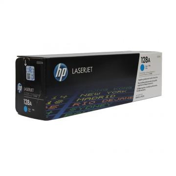 CE321A HP 128A оригинальный лазерный картридж HP голубой, ресурс - 1300 страниц