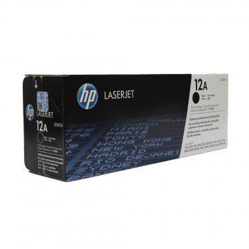 Q2612A HP 12A оригинальный лазерный картридж HP чёрный, ресурс - 2000 страниц