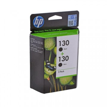 C9504HE HP 130 + 130 оригинальный струйный картридж HP чёрный, ресурс - 2 * 860 страниц