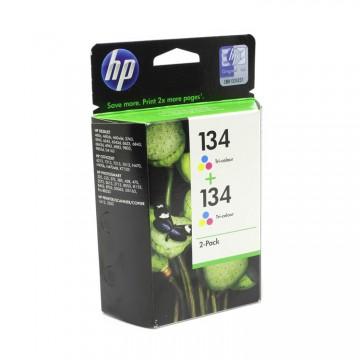 C9505HE HP 134 + 134 оригинальный струйный картридж HP цветной, ресурс - 2*560 страниц