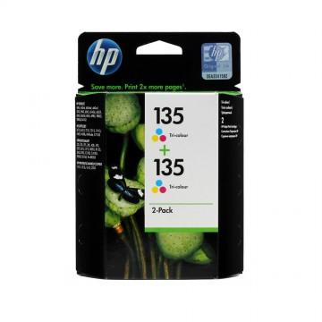 CB332HE HP 135 + 135 оригинальный струйный картридж HP цветной, ресурс - 2 * 330 страниц