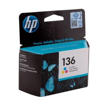 C9361HE HP 136 оригинальный струйный картридж HP цветной, ресурс - 220 страниц