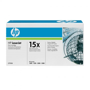 C7115X HP 15X оригинальный лазерный картридж HP чёрный, ресурс - 3500 страниц