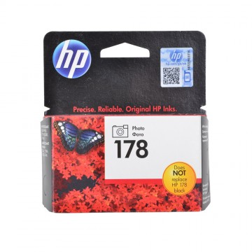 CB322HE HP 178XL Photo black оригинальный струйный картридж HP чёрный-фото, ресурс - 290 страниц