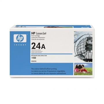 Q2624A HP 24A оригинальный лазерный картридж HP чёрный, ресурс - 2500 страниц