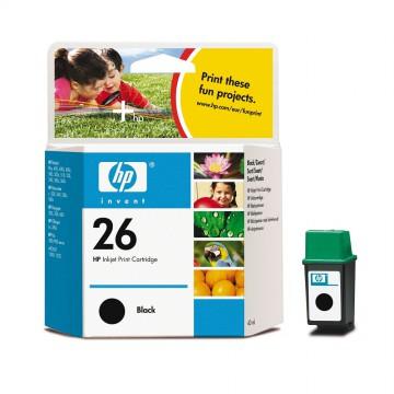 51626AE HP 26 оригинальный струйный картридж HP чёрный, ресурс - 800 страниц
